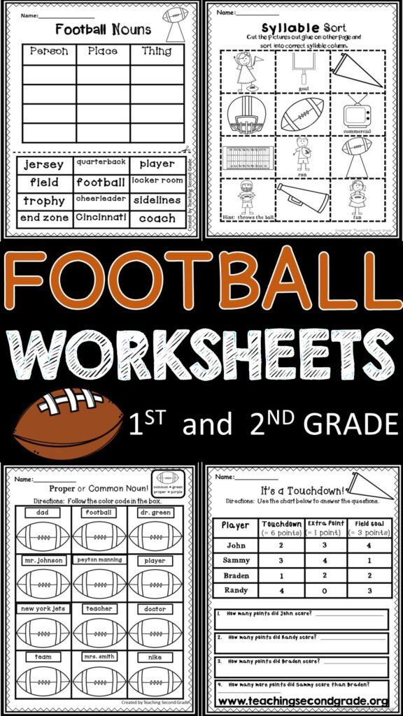 football-worksheets