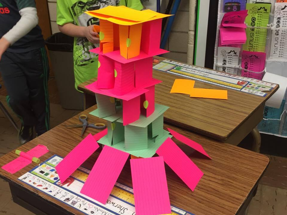 STEM PROJECT For Elementary Grades ~ BUILDING A HOUSE OF CARDS