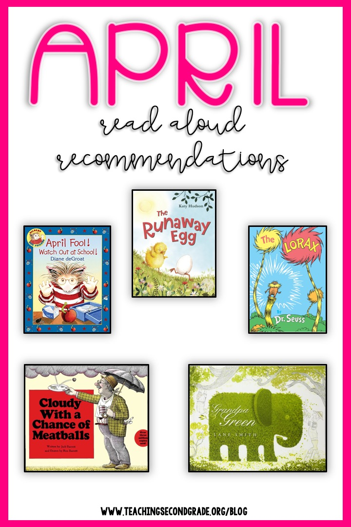 April Read Aloud Book Recommendations