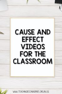 Are you spending time going back and reviewing concepts that students don't fully understand? Cause and effect is a great one to constantly review! #teachingsecondgrade #causeandeffect #videolessons #reading #curriculum | Curriculum for Teachers | Reading Lessons | Teaching Cause and Effect |