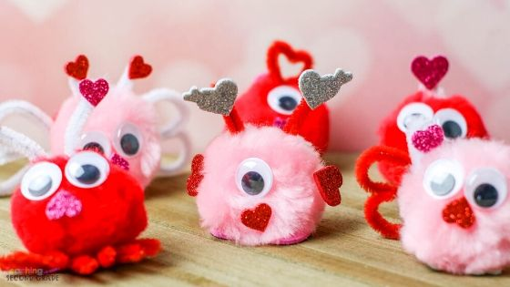 Pom Pom Love Bugs Craft