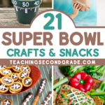 The biggest game of the year is just around the corner, and we've got some great Super Bowl Ideas for football-themed crafts and snacks for all ages. #teachingsecondgrade #superbowl #kidscrafts #kidssnacks #footballtheme | Football Themed Snacks | Football Crafts | Superbowl Ideas | Easy Kids Activities | Super Bowl Ideas for Kids