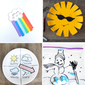 Teaching about Weather? Use these weather crafts ideas for hands-on learning. Smiling sunny faces, dark rain clouds, gorgeous rainbows, and even some snow! #teachingsecondgrade #weathercrafts #learningweather #weather #craftsforkids | Second Grade Activities | Weather Crafts for Kids | Easy Crafts for kids | Learning about Weather | Teaching about the Weather |
