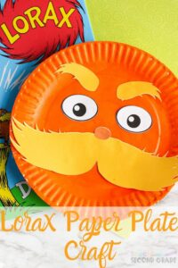 The Lorax is a fun creature and kids love putting together this Lorax Paper Plate Craft. A fun thing to do to honor Dr. Suess. #drseuss #lorax #paperplatecraft #teachingsecondgrade #kidsactivity #kidscrafts | Easy Kids Activity | Dr Seuss Craft | Paper Plate Crafts | Dr Seuss Lorax | Easy Kid Craft