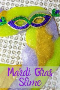 Mardi Gras is a great time to learn about history but making slime is a fun way to take it all in! Here is the recipe we use! #mardigras #slime #teachingsecondgrade #kidsactivity #learningthroughplay | Slime Recipes | Mardi Gras Slime | Kids Activities | Learning through Play | Simple Kids Activities | Making Slime