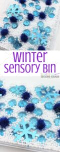 This winter sensory bin works wonders for activity time, stations, and allowing the kids to explore. They keep kids busy while fulfilling sensory needs. #teachingsecondgrade #sensory #winter #finemotorskills #learningthroughplay #sensoryplay | Sensory Play | Sensory Bin Ideas | Fine Motor Skills Activities | Winter Activities | Winter Sensory Bin Ideas