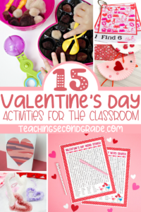 Looking for fun Valentine's Day Activities to do as a class? Here you'll find activities to work on fine motor skills, counting, science, and more. #teachingsecondgrade #valentinesday #kidsactivities #classroomactivities #holidayfun | Valentine's Day Activities for kids | Classroom Valentine's Day Fun | Easy Kids Activities | Easy Holiday Activities | Classroom Activities