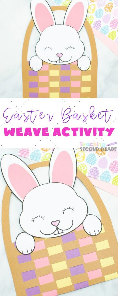 This cute Easter Basket Craft art project can be done in class or at home. Simple printable templates and easy to follow directions make this a huge hit. #teachingsecondgrade #easter #kidsactivities #kidscrafts #easterbasket | Easter Crafts for Kids | Easter Basket Crafts | Easter Crafts | Simple kids crafts | Simple Kids Activities