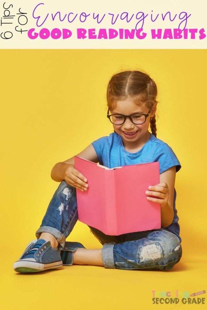 Reading opens the doors to an expanded vocabulary and enhanced language skills in kids. Use these 6 tips to develop good reading habits in your kids. #teachingsecondgrade #reading #readinghabits #encouragingreading #readingtips | Learning to Read | Good Reading Habits | Reading Tips | Reading Habits |