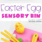 If you need something for the kids to do this Easter Sensory Bin is perfect. Easy set up that provides tons of imaginary and creative play. #teachingsecondgrade #Easter #easteractivities #easyactivitiesforkids #sensoryplay #sensorybinideas   Sensory Bin Ideas   Sensory Play   Easy Activities For Kids   Easter Activities for Kids   Easter Ideas   Easter Sensory Bin