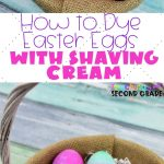 Dying Easter eggs with Shaving Cream is simple and friendly for kids of all ages. Use these simple directions to make your Easter Eggs gorgeous! #teachingsecondgrade #eastereggs #dyingeastereggs #shavingcreameastereggs #easter | How to Dye Easter Eggs with Shaving Cream | Shaving Cream Easter Eggs | Easter Activities | Simple Activities for Kids | Dying Easter Eggs |