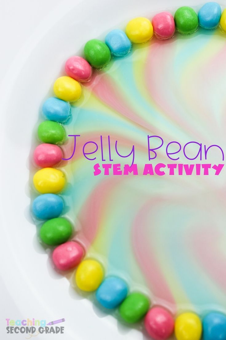 This Jelly Bean STEM Experiment is perfect for hands-on learning. A great way for kids to play with science and thrive in a hands-on learning environment. #teachingsecondgrade #science #stem #stemactivities #scienceexperiments #handsonlearning | STEm Ideas | Science Experiments | STEM Activities | Hands-On Learning | Learning Through Play