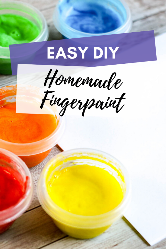 homemade fingerpaint
