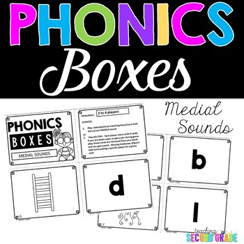 picture of phonics boxes, medial sounds