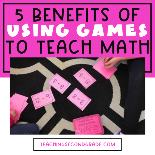 Students playing a math game.