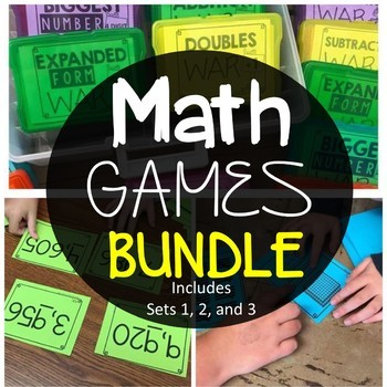 Bundle of math games for elementary ages, 2nd grade students.