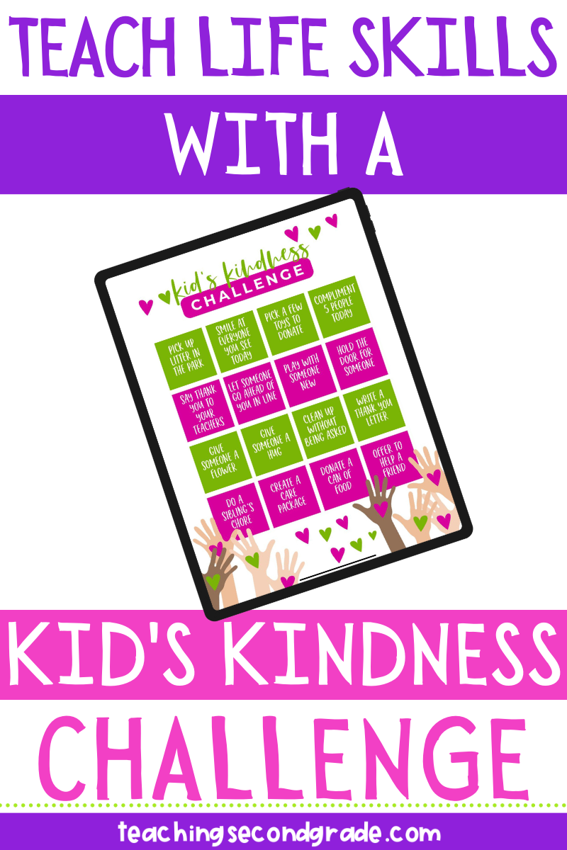 Teach life skills with a free kid's kindness challenge!