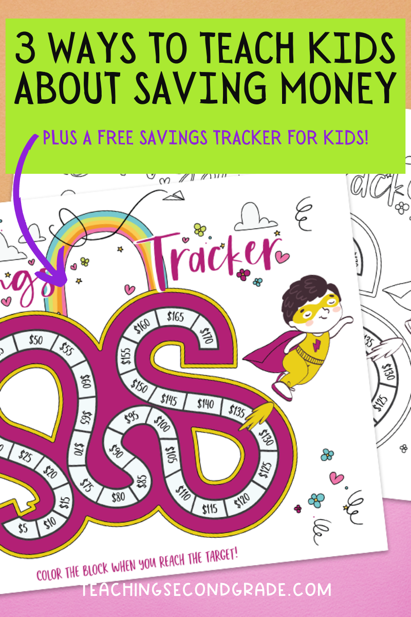 Creative ways to teach kids about saving money using a savings tracker.