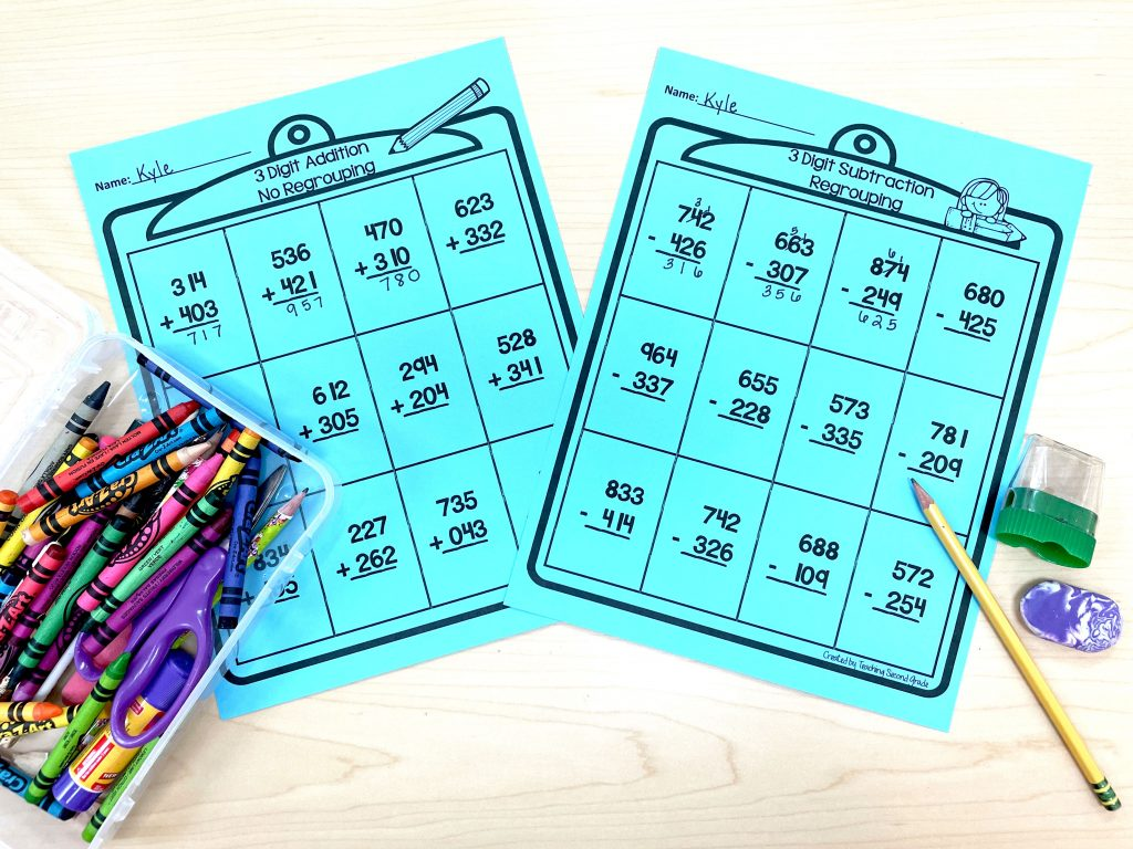 Teaching 3-digit addition and subtraction