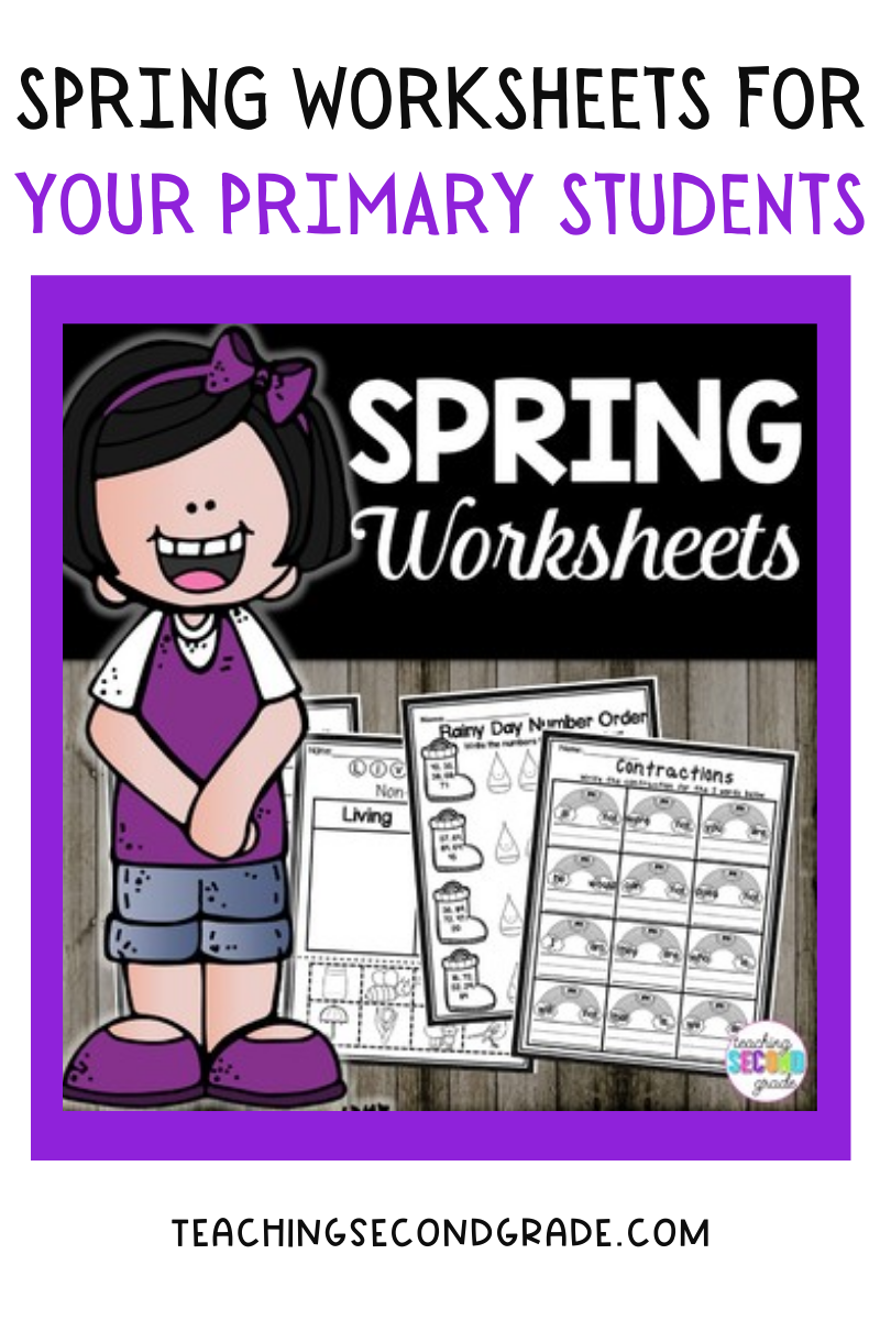 Spring worksheets for your primary students.