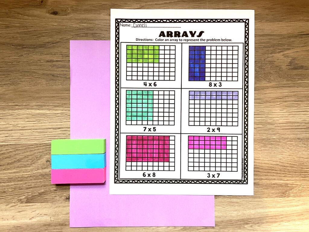 arrays_worksheets_math