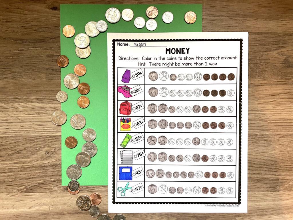 money_worksheets_elementary_math