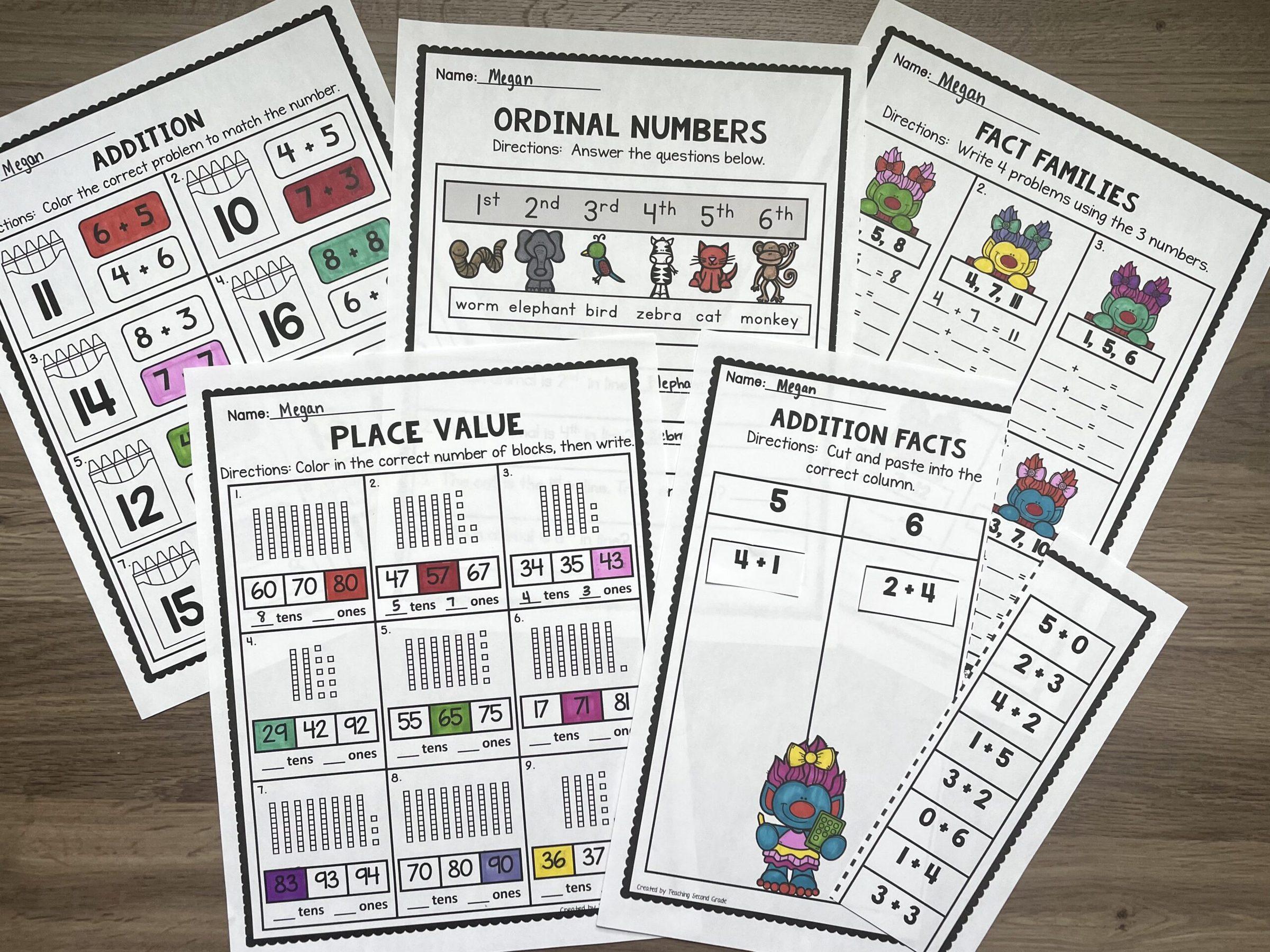 second_grade_math_worksheets