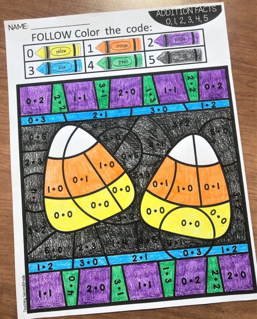 teaching_second-grade_halloween_color_by_number
