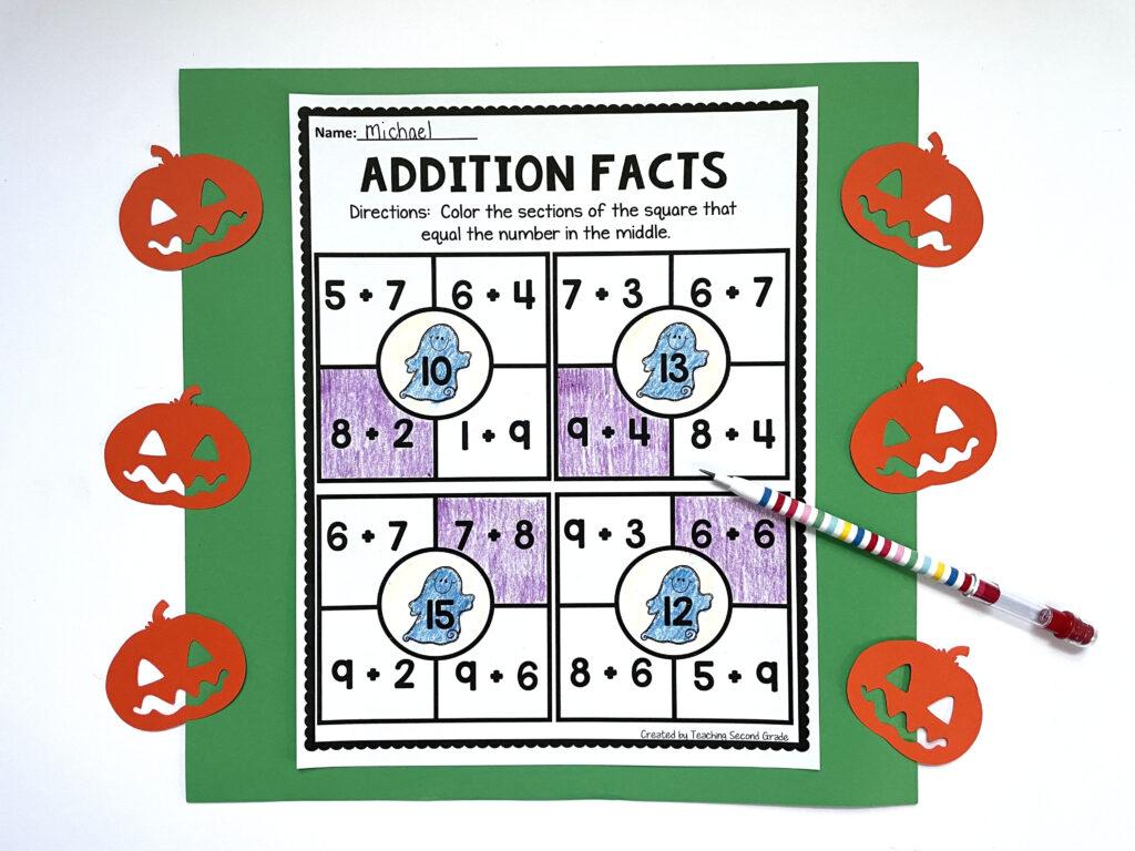 teaching_second_grade_halloween_math_worksheets
